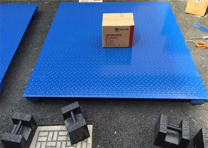 Painted Carbon Steel Industrial Floor Scale With High Accuracy Load Cell
