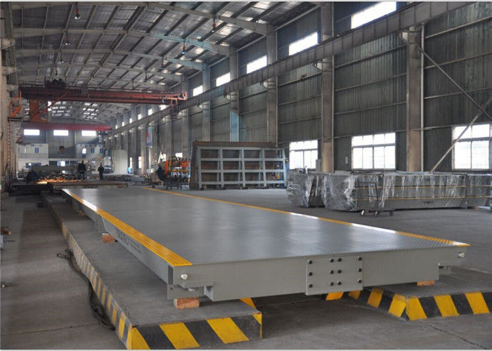 High Precision Sensors Electronic Weighbridge 12mm Steel Plate Avoid Bending